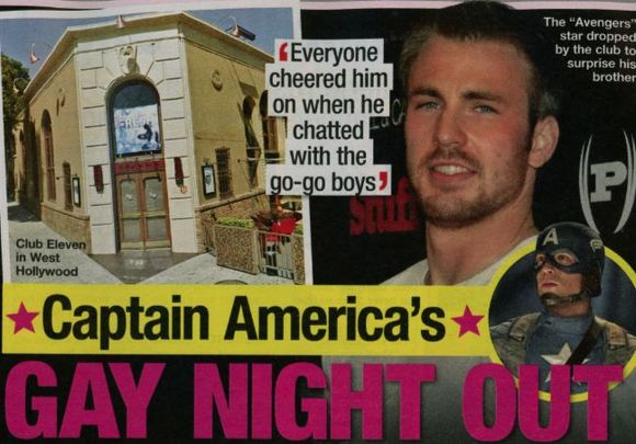 Chris Evans gay night out with Scott