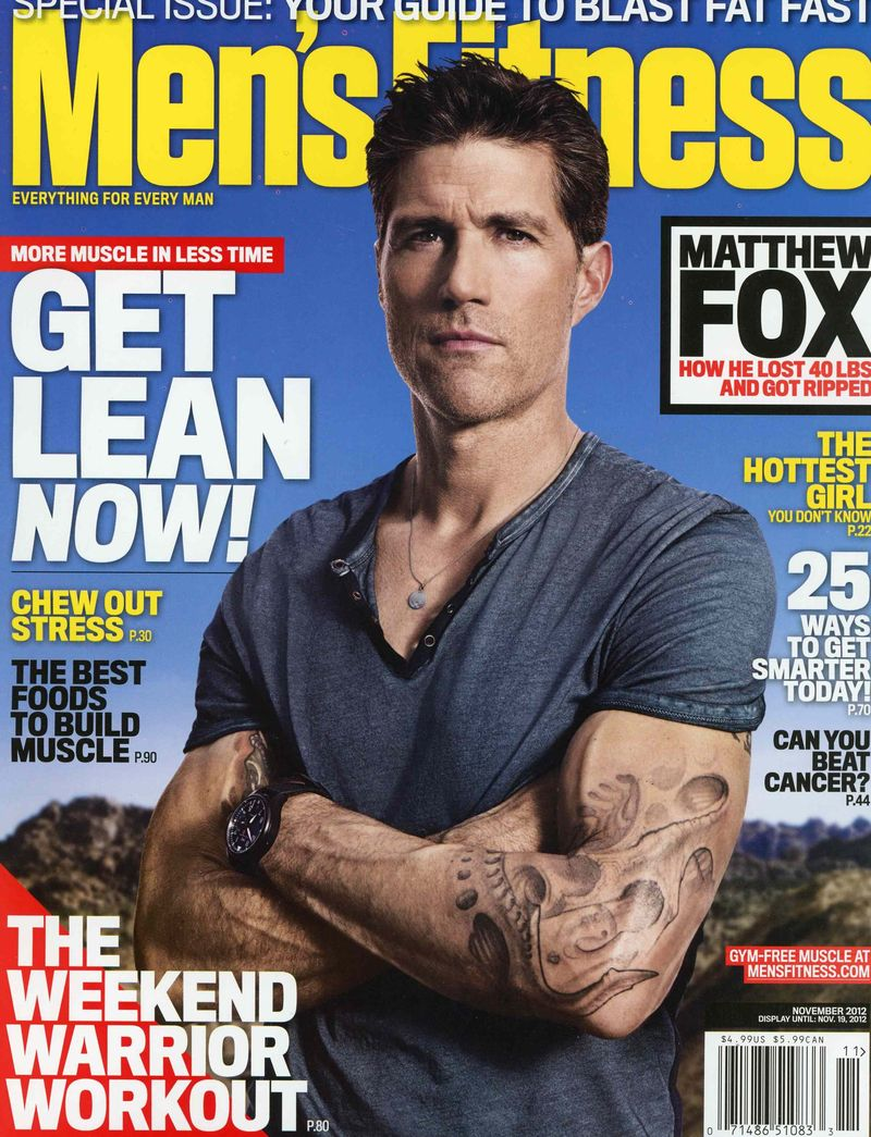 Matthew Fox Mens Fitness