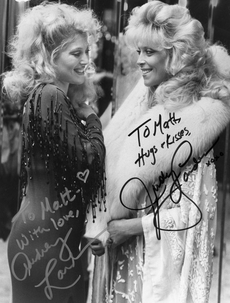 Audrey Judy Landers autograph