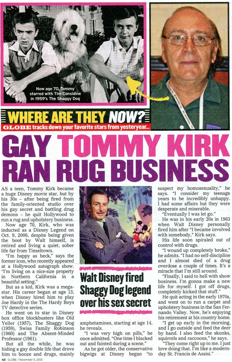 Tommy Kirk where is he now
