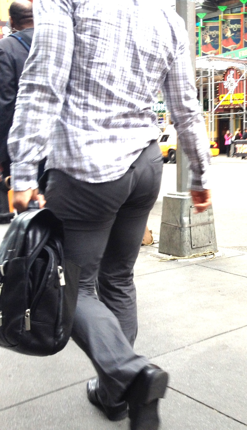 Butt in slacks