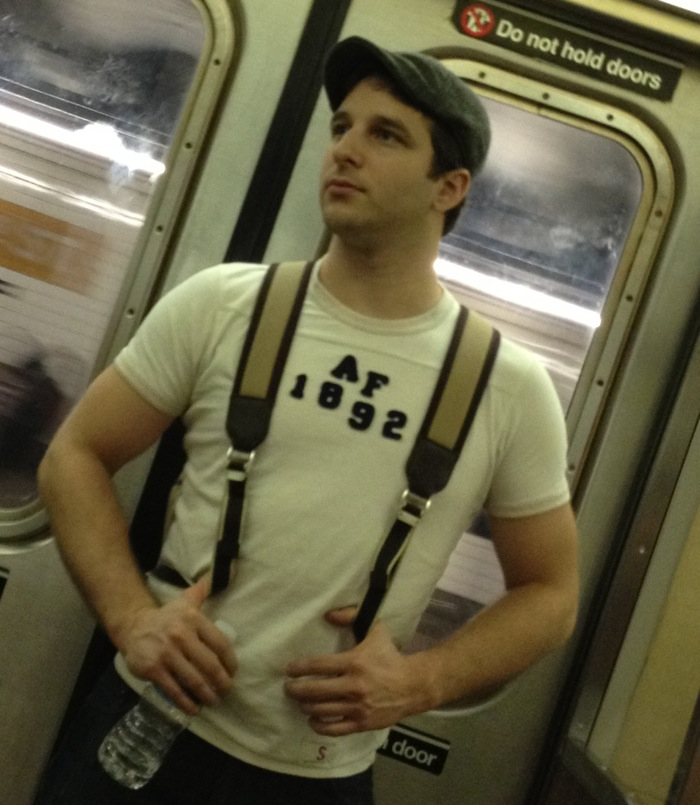 Fit guy on subway