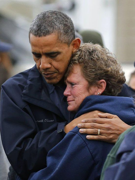 Barack Obama storm relief NJ