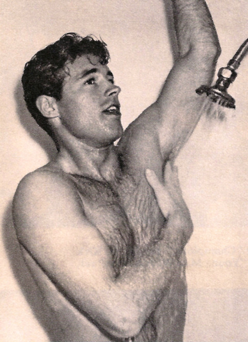 Guy Madison in shower