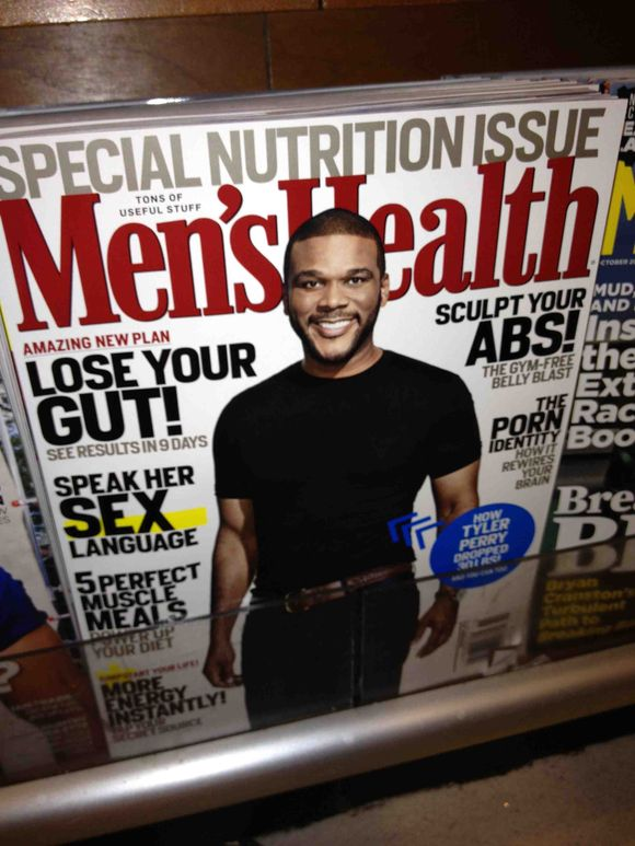Mens Health magazine cover Tyler Perry