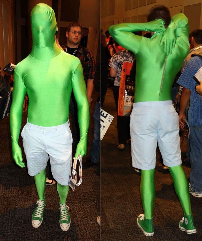 *green spandex
