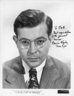 Marvin Kaplan autograph