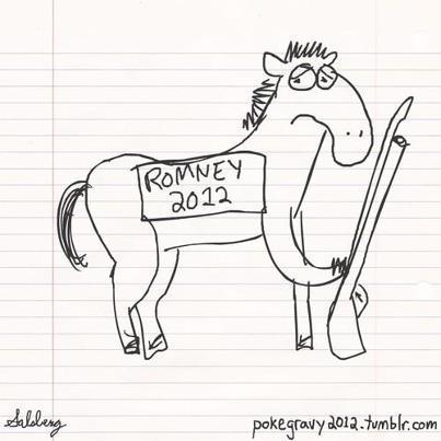 Mitt Romney horses bayonets Barack Obama debate