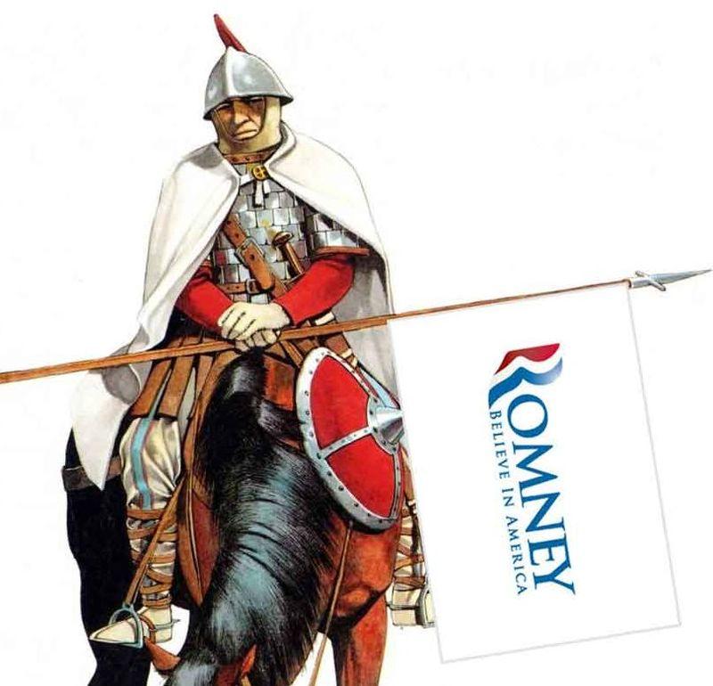 Romney horses bayonets