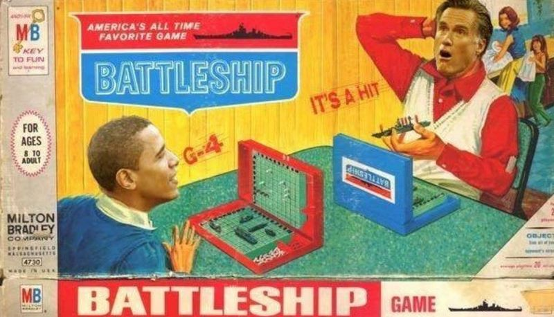 Obama humor Romney Battleship