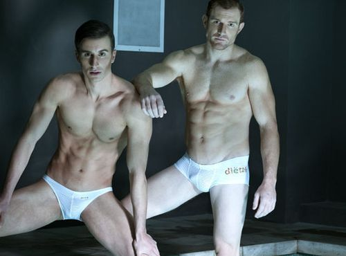 Two studs in underwear