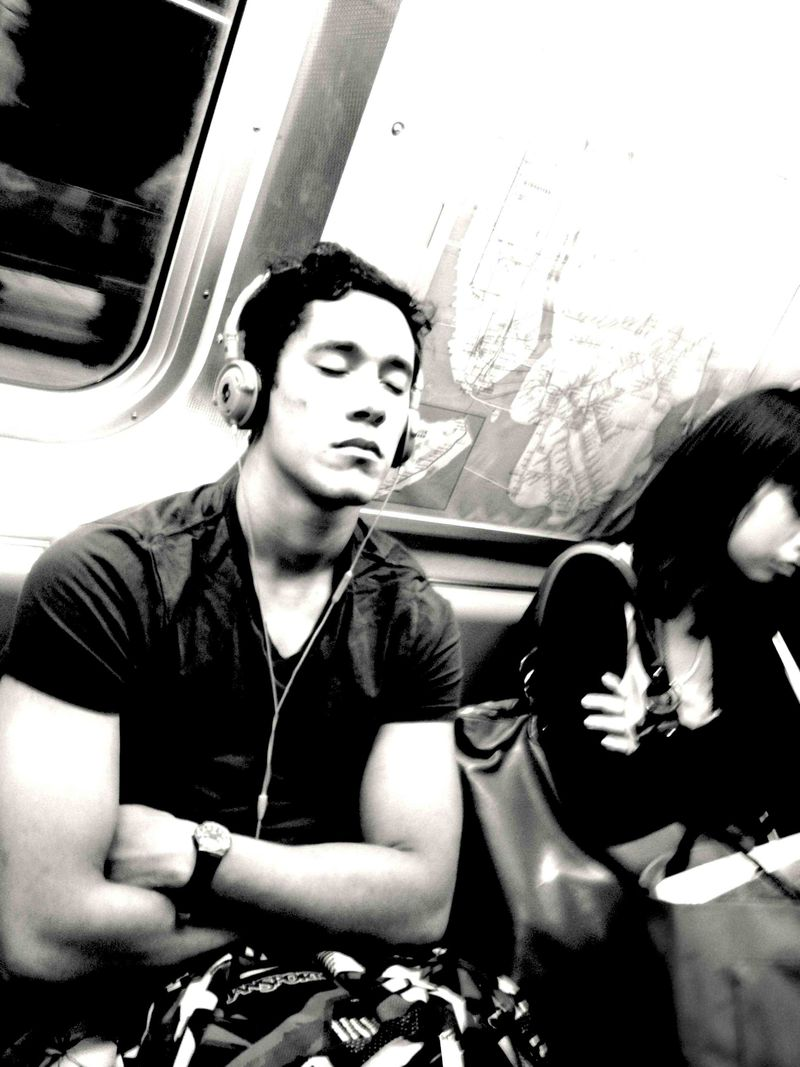 Sleeping beauty on subway