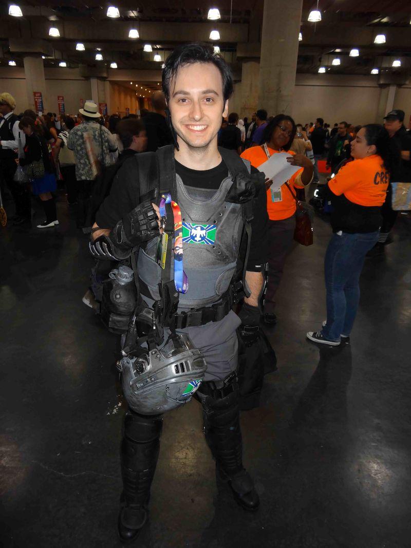 Comic Con character smiles