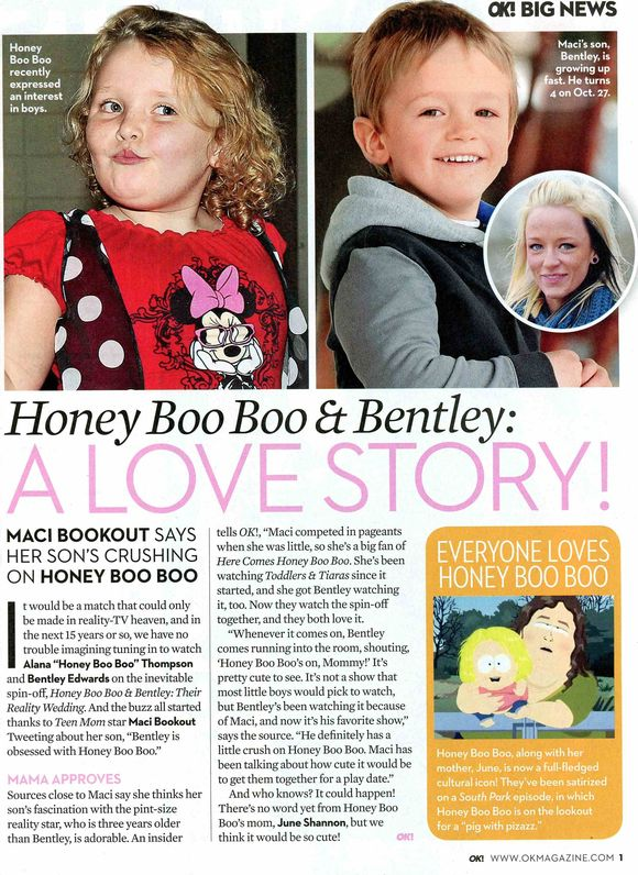 Gossip Honey Boo Boo crush OK! Magazine