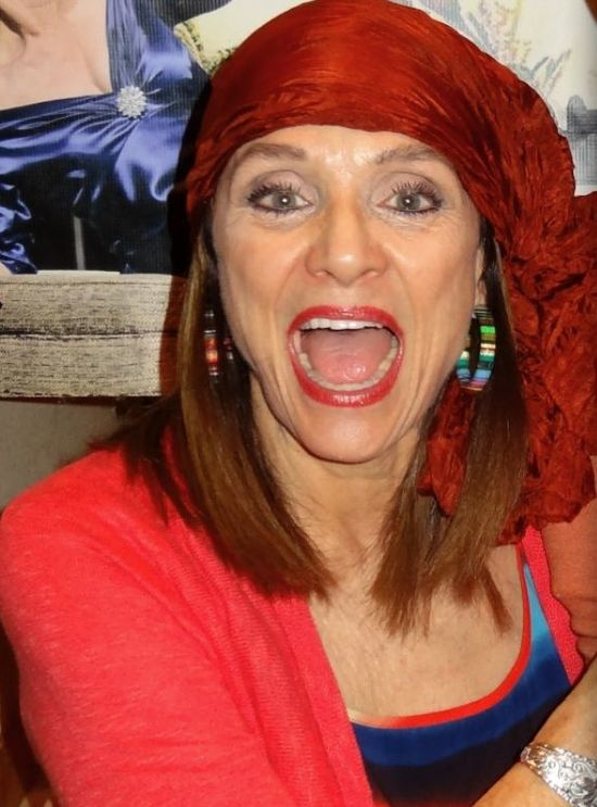 Valerie Harper laughs