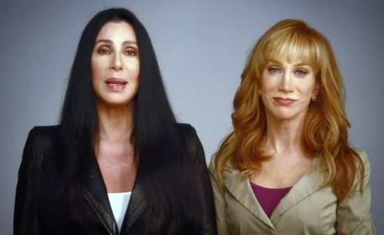 Cher Kathy Griffin against Mitt Romney for Barack Obama