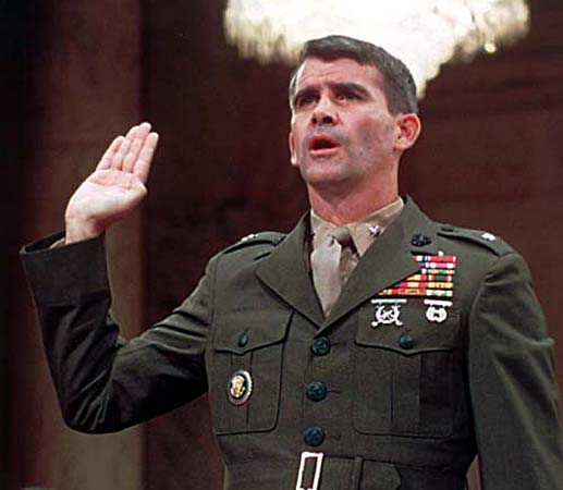 Oliver-North-iran-contra-hearings