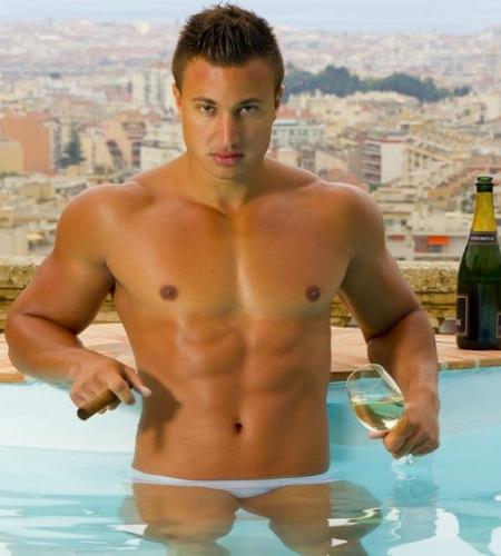 Pool-shirtless