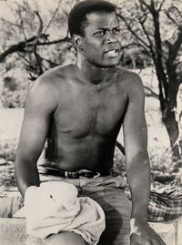 Poitier-shirtless