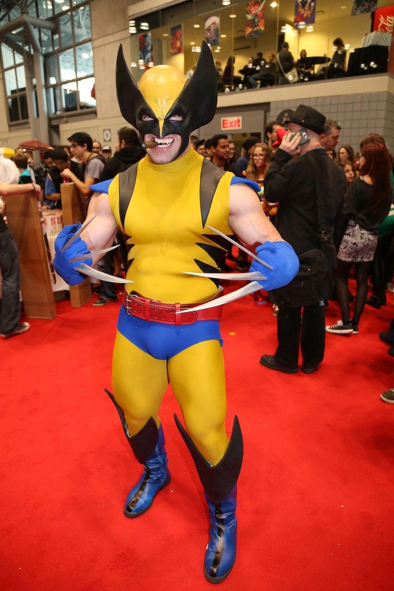 Yellow comic con costume