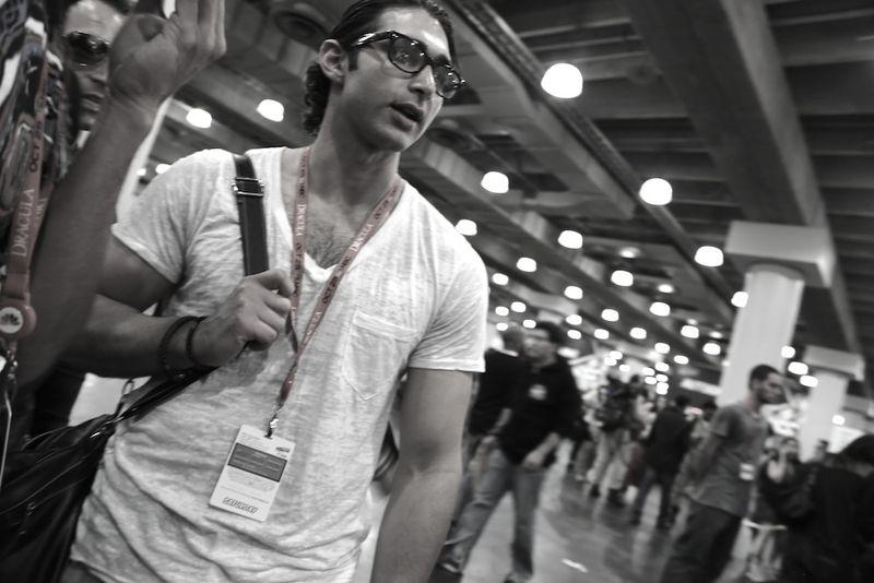 Black and white Comic Con