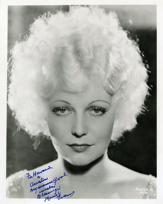 Muriel Evans_head shot_publicity still MGM 1933_signed to Austin and Howard