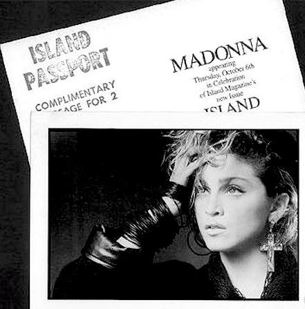 Madonna island roxy invite
