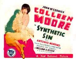 ColleenMooreSyntheticSin1928Poster