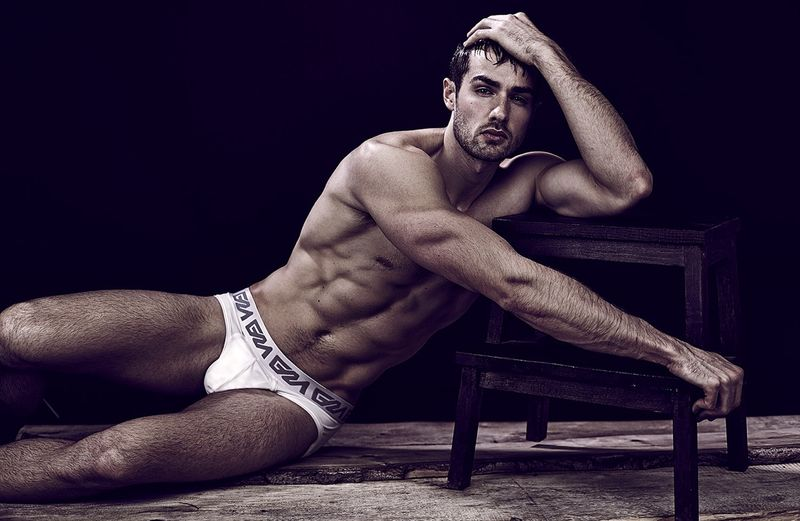 Paul-Knops-Garcon Model Underwear - White briefs 3