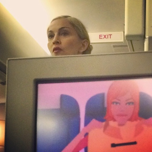 Madonna-commercial-flight