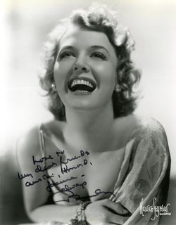 Beverly Roberts_publicity portrait_signed to Austin, Joanna and Howard