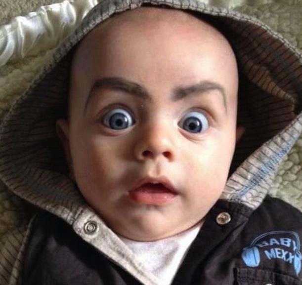 Babies-eyebrows