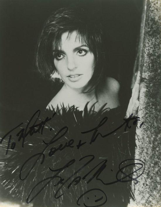 Autograph-Liza-Minnelli