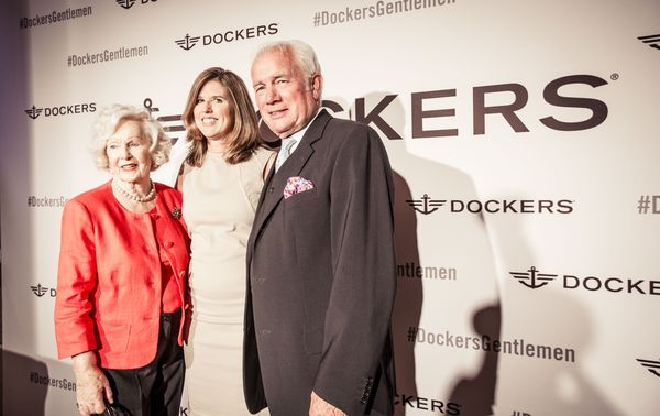 Lisa Collier President of the Dockers brand with Peggy Cummins and Anthony Armstrong-Barnes_Lansdowne Club_June 18