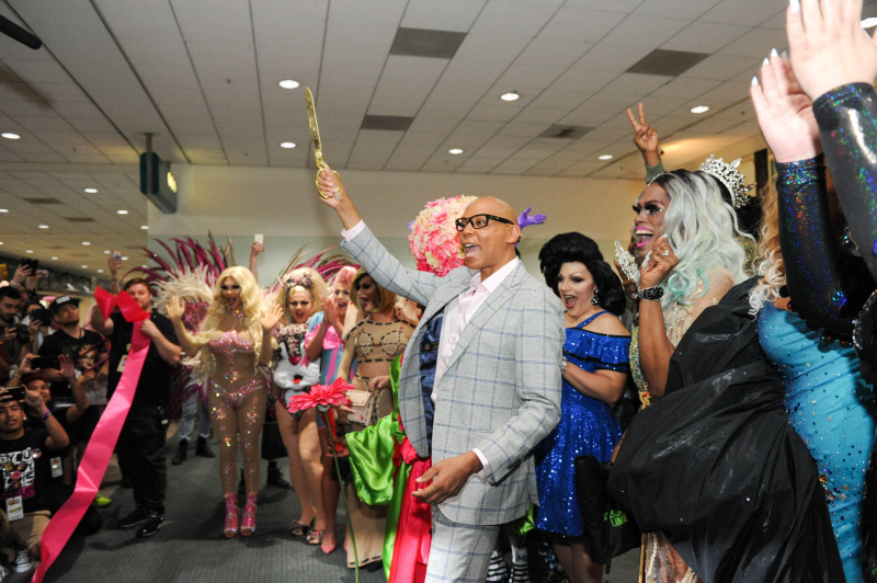 RuPaul Ribbon Cutting