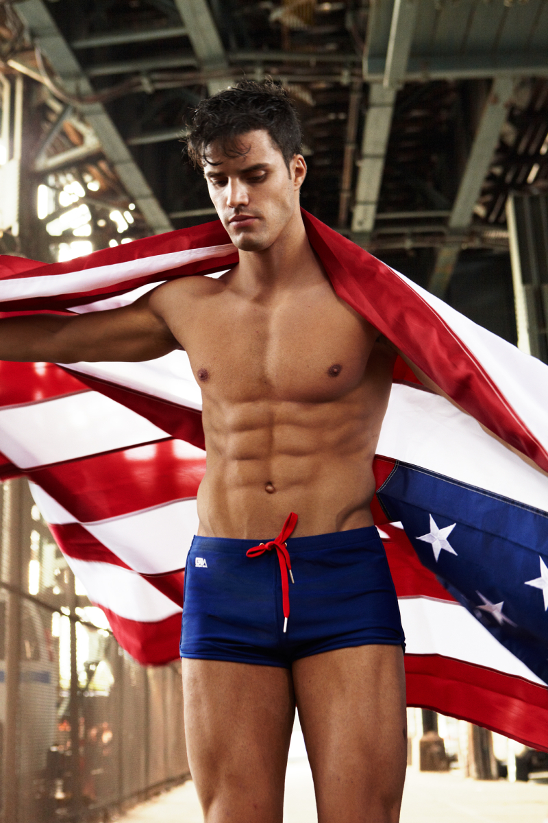 Garcon Model underwear swimwear fourth of july 4