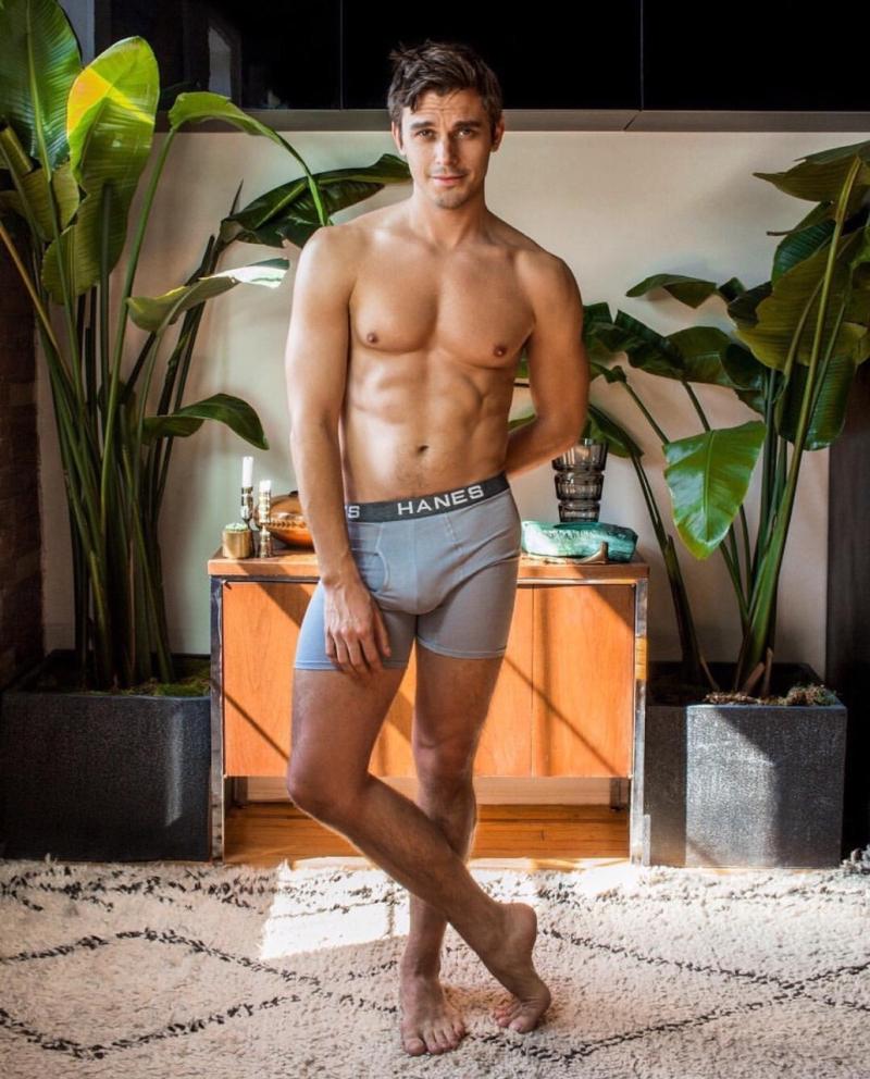 Antoni Porowski underwear Hanes