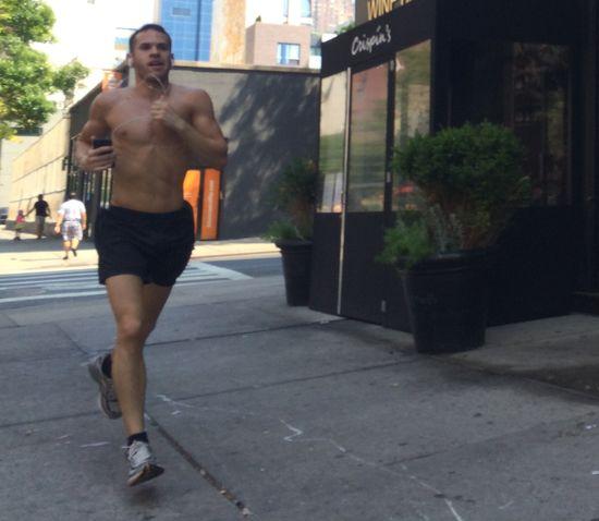 Shirtless-runner