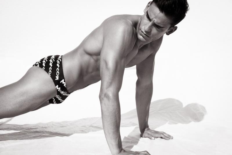 Paul-Revesz-by-Ted-Sun-wearing Garcon Model Swimsuit speedo 8