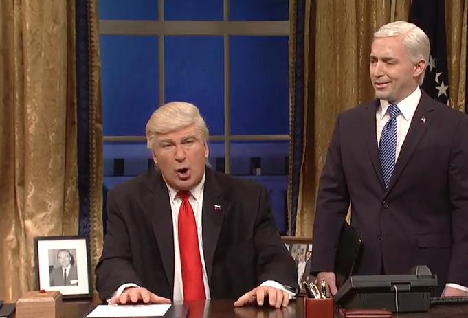 Trump-Baldwin-SNL-100-Days