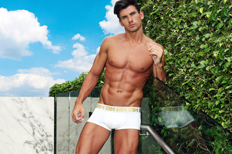 Garcon Model underwear Best underwear trunks for men best quality white and gold 1