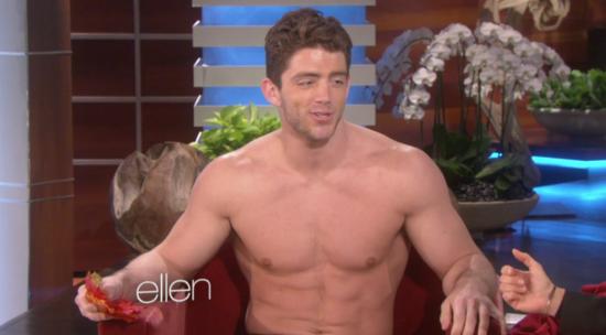 Nick-Gardener-Billy-Reilich-shirtless-Ellen-DeGeneres