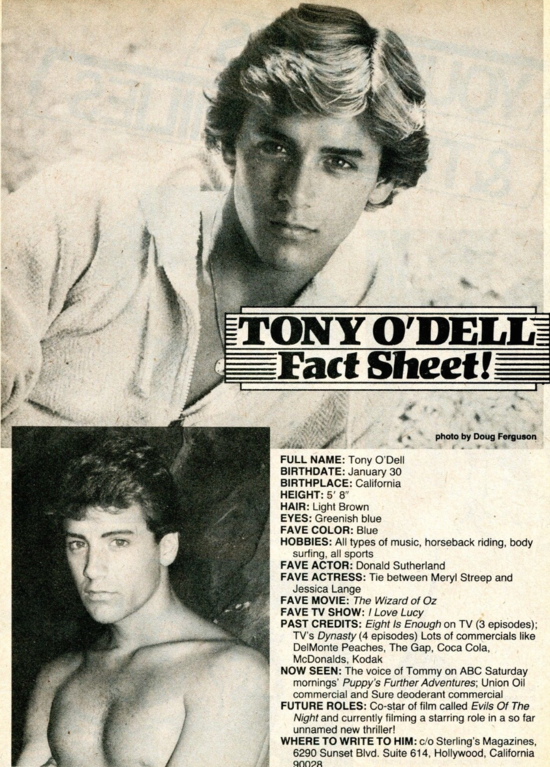 Mantiques Tony O Dell Boy Culture Covering Hot Men Gay Issues Celebrities Movies Music More 1,027 tony o'dell premium high res photos. mantiques tony o dell boy culture