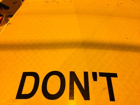 Sign-dont