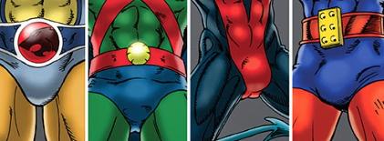 Superhero-crotches