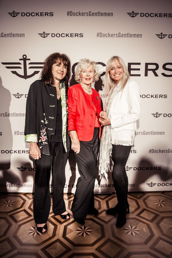 Katy Haber, producer with actresses Peggy Cummins and Susan George_Lansdowne Club_June 18_
