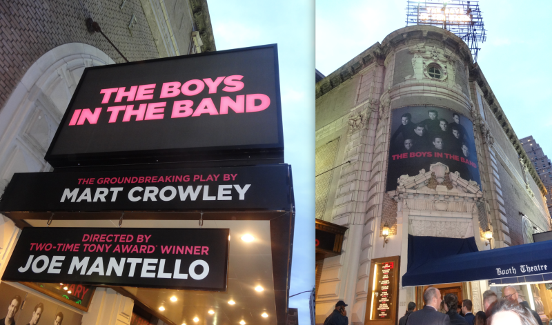 Boys in the Band marquee gay NYC