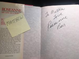 ROseanne Barr autograph