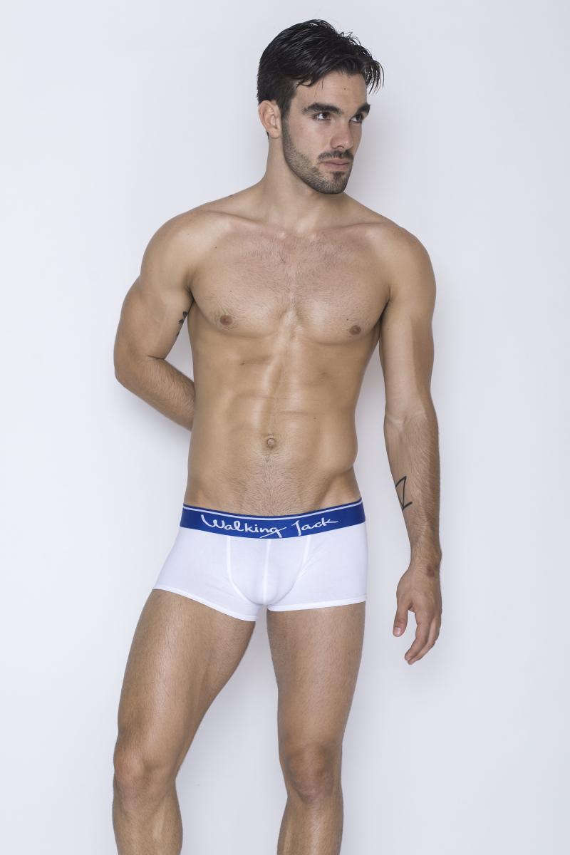 Walking Jack - underwear - Core Trunks - White_Blue - FR01 - LR