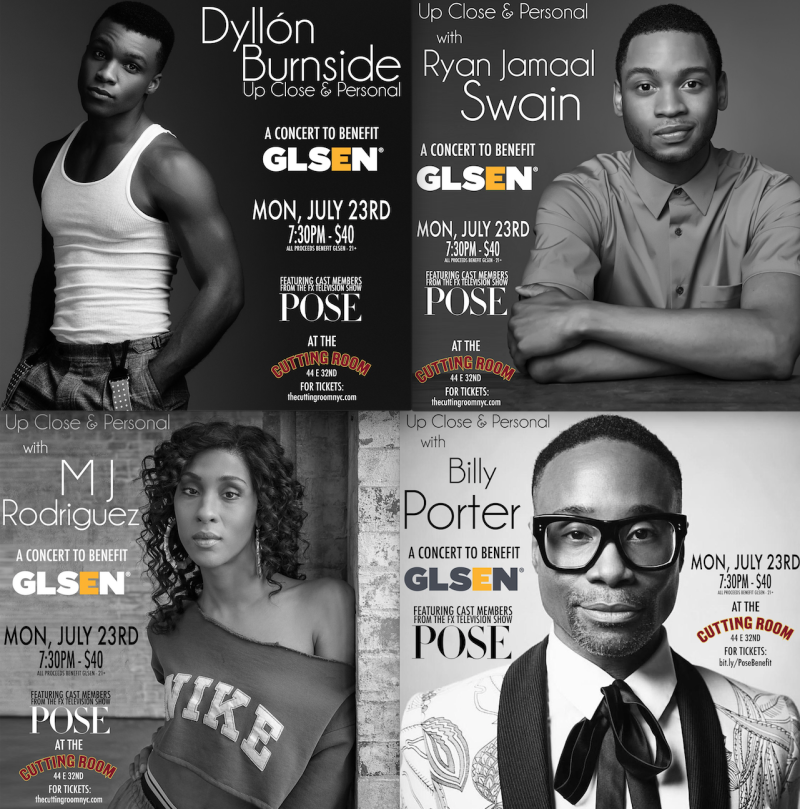Pose GLSEN Dyllon Burnside Billy Porter Mj Rodriguez Ryan Jamaal Swain